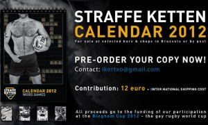 Brussels gay rugby club « the Straffe Ketten » is about to launch its first calendar