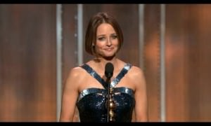 Jodie Foster reveals her Big Secret at Golden Globes