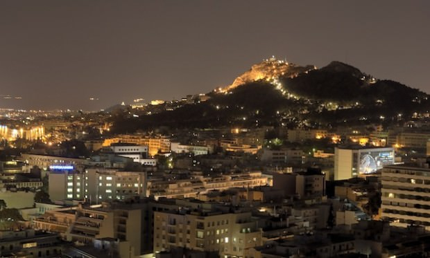 Athens_-_Mount_Lycaettus-by-night