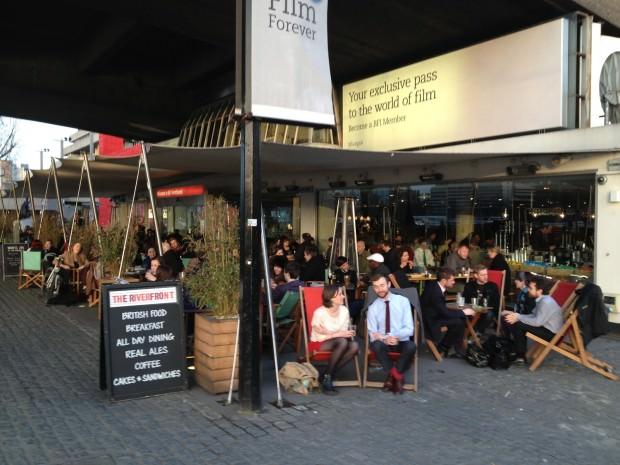 Riverfront bar on London's Southbank