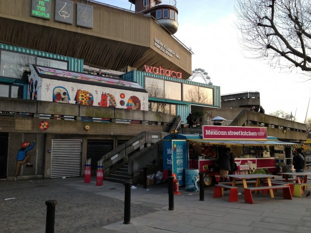 Wahaca restaurant on London's Southbank