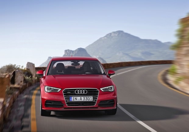 Audi A3 Red on the road 2