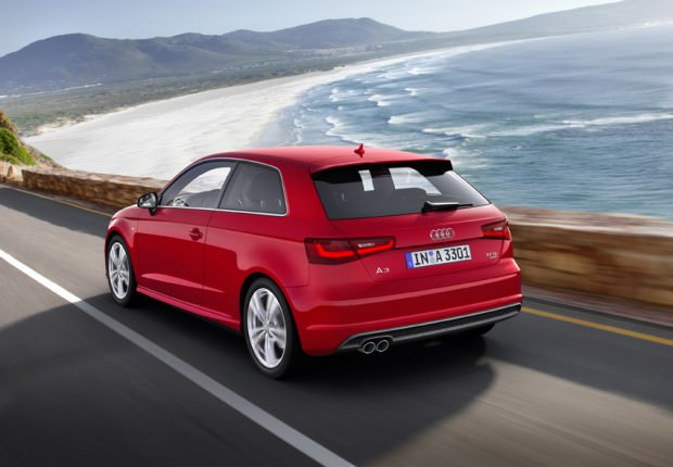 Audi-A3-red-on-the-road