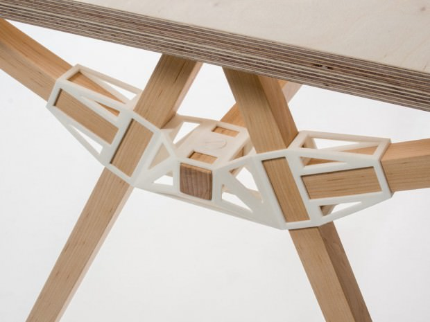 numero 1 Keystones-Table-with-3D-Printed-Joinery-by-Studio-Minale-Maeda